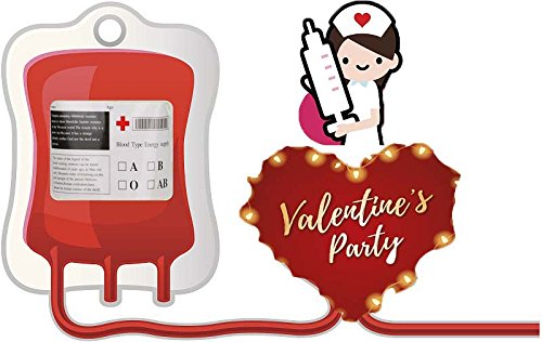 Valentine Day Crazy Party Blood Bag -Set of 10 Reusable Juice Energy Drink Container with Syringe for St Pat Children Nurse Medical Birthday Funny Novelty Party Favors