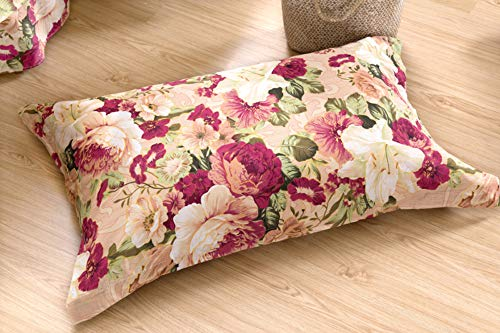 TEALP Pillow Shams Vintage Plant Peony Romantic Bloom Bouquet Flora Home Decor Pillow Case Blossom Pink Flower Floral Pattern Roses Lovely Spring Pink Floral Colorful Pillowcases 20x30 2 Pieces