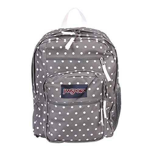 White Spirit JanSport Gris Backpack Free Grey Big Pois Black Dotss Student Shady White Blancs xwqU4w76