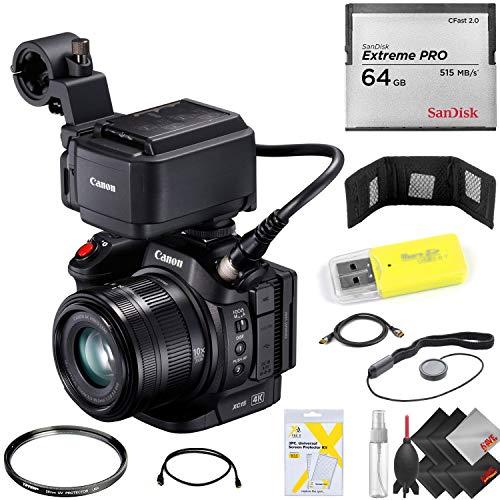 Canon XC15 4K Professional Camcorder + 64GB Cfast Memory Card Base Kit