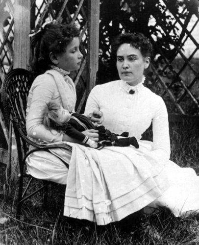 Home Comforts Helen Keller Anne Sullivan 1888 S Famous Americans Historical S Vivid Imagery Laminated Poster Print 11 x 17 (Images Of Helen Keller And Anne Sullivan)