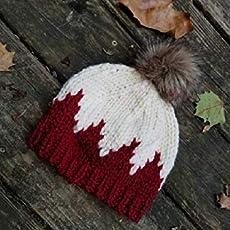 f7d57ba737f Child Knit Hat - Pom Pom Hat - Red Baby Beanie - Child Bobble Hat - Baby Ski .