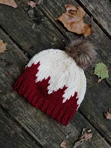Amazon.com  Child Knit Hat - Pom Pom Hat - Red Baby Beanie - Child Bobble  Hat - Baby Ski Hat - Toddler Hat - Kid Beanie - Kids Hat  Handmade 99a8f0d58df