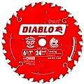 Freud D0624X Diablo 6-1/2-Inch 24-Tooth ATB Framing Saw Blade with 5/8-Inch Arbor by Diablo