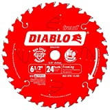Freud D0624X Diablo 6-1/2-Inch 24 Tooth ATB Framing Saw Blade with 5/8-Inch Arbor