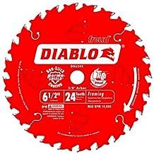 Freud D0624X Diablo 6-1/2-Inch 24 Tooth ATB Framing Saw Blade with 5/8-Inch Arbor