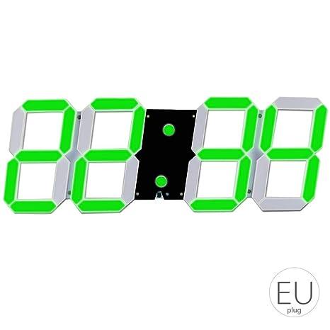 El LED de Alarma Esqueleto Hueco del Reloj de Pared de múltiples Funciones de Temporizador Pantalla