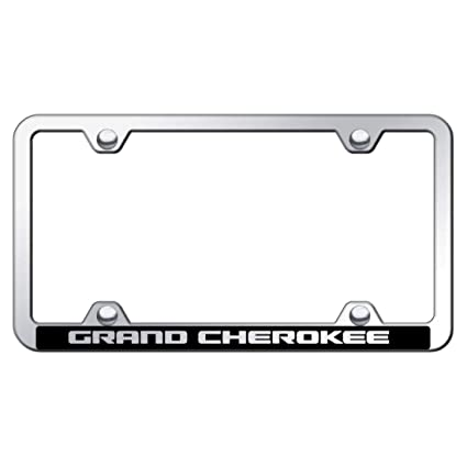 Frames License Plate Covers & Frames Jeep Grand Cherokee Laser Engraved Chrome License Plate Frame with Caps