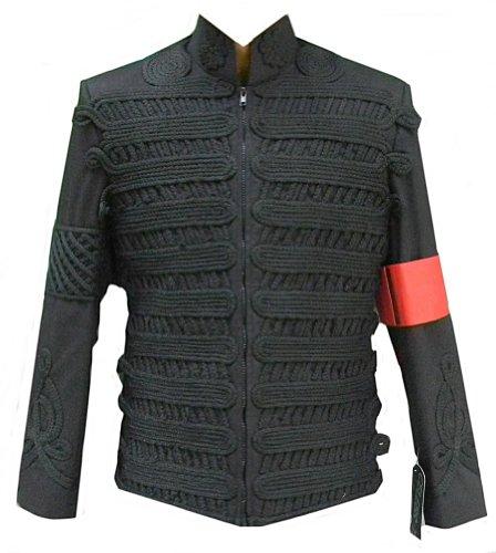 Classyak MJK Military Style Jacket – Black with Black Thread (XS)