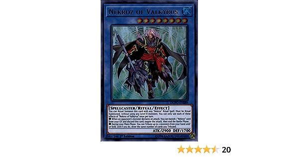YuGioh Nekroz of Valkyrus NM DUPO-EN089 Ultra Rare Card 1st Ed.