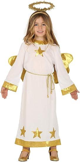 Guirca Disfraz de Ángel con Estrellas para Niños: Amazon.es ...