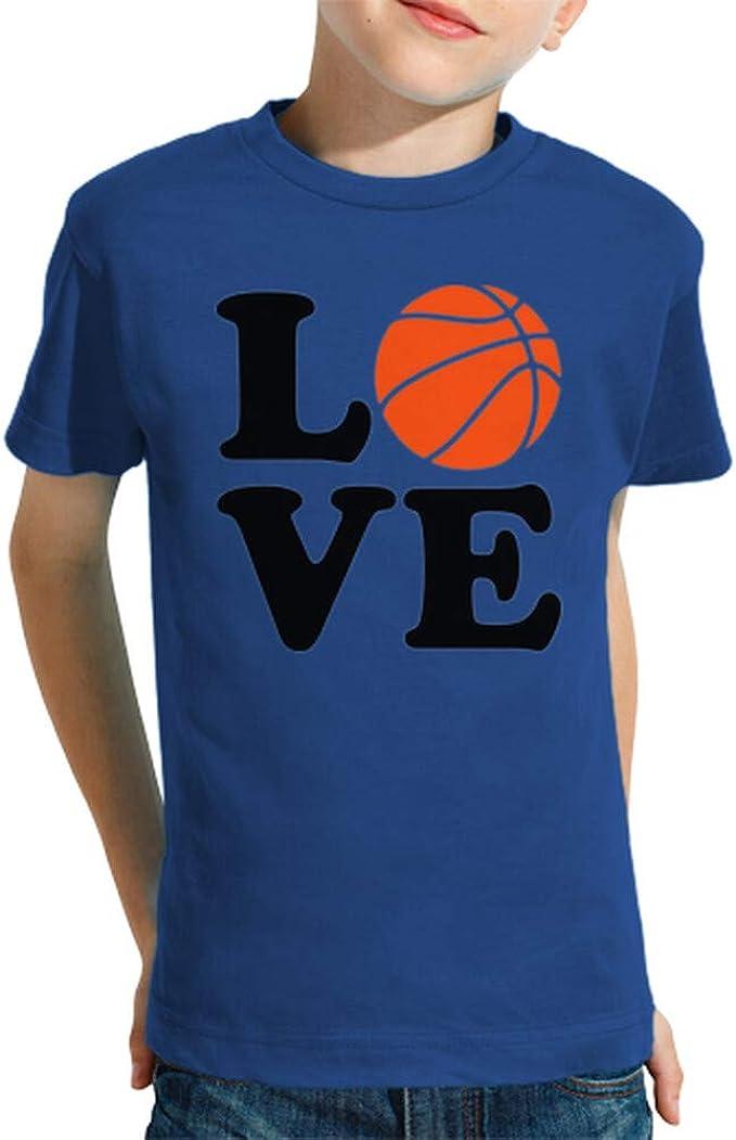 latostadora - Camiseta Amor de Baloncesto para Nino y Nina Azul Royal L: Amazon.es: Ropa y accesorios