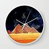 Society6 Arabian Nights Wall Clock White Frame, White Hands