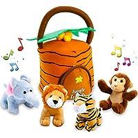Kleeger Plush Talking Jungle Animals Toy Set (5 Pcs -...