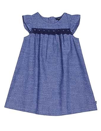 Nautica Toddler Girls' Line Dress, Chambray, 2T