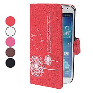 DUR Dandelion Pattern PU Leather Case with Stand for Samsung Galaxy S4 I9500 (Assorted Colors) , Pink