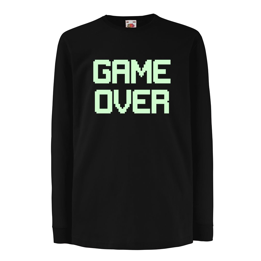 Funny t shirts for kids Long sleeve GAME OVER! Vintage t shirts funny gamer shirt Vacom Advertising Ltd N4531D