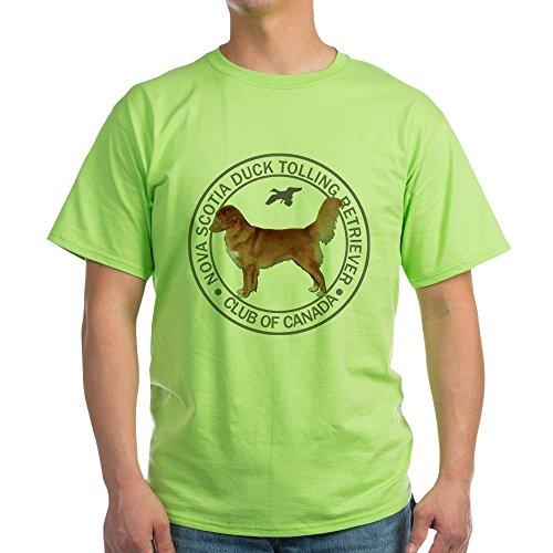 CafePress Nova Scotia Duck Tolling Retriever Club of Canada 100% Cotton T-Shirt Green (Nova Scotia Duck Tolling Retriever Club Of Canada)