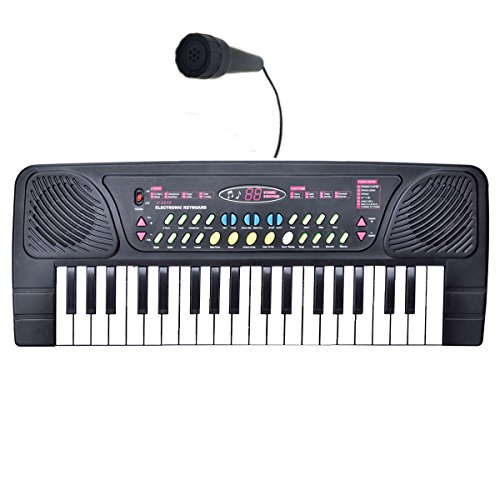 Why Should You Buy Kids Piano, Fresh Household 37-Key Keyboard Piano with Microphone Digital Keyboard Portable Organ Record Playback – Black