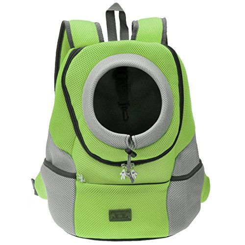 Mangostyle Pet Carrier Backpack Dog Travel Bag Pet front Carrier Bag Mesh Backpack Head out Carrier Double Shouder Bags for Small Dogs