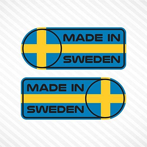 Made In Sweden Sticker Set Vinyl Decal Badge For Swedish Car SUV Quarter Panel Emblem Fits Volvo & Saab