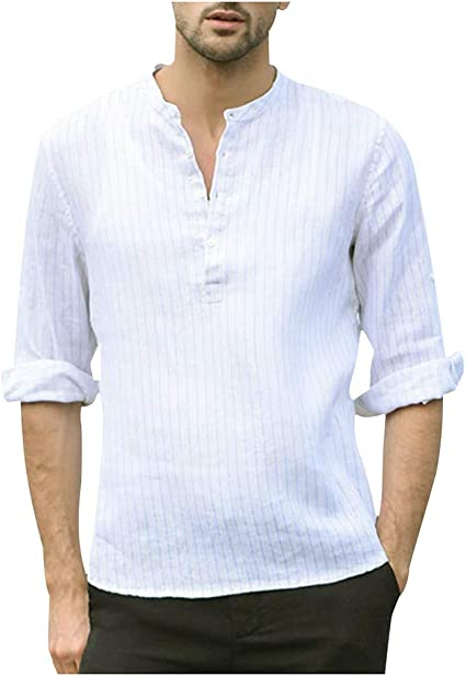 ZODOF camisa hombre camisas sport Casual Comodo Moda Retro Botón Suelto Manga larga Camisa Tops Blusa Moda para hombre camisa lino hombre(L,Blanco): Amazon.es: Instrumentos musicales
