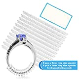 Ring Size Adjuster for Loose Rings - Jewelry Guard, Spacer, Sizer. 2 Sizes (2mm, 3mm) Fit Women and Men. 12 Pack with Jewelry Polishing Cloth.