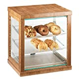 21W x 16.25D x 22.5H Bamboo Bakery Display Case 1 Ct