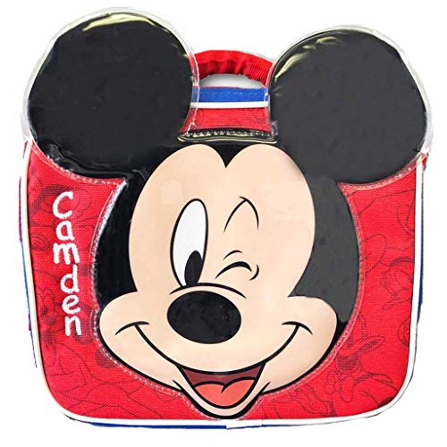 Mickey Mouse Holiday Personalized (Personalized Licensed Lunch Bag (Mickey Mouse