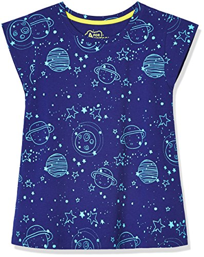 A for Awesome Girls Cap Sleeve Tee X-Large Space (Print Spandex Cap)