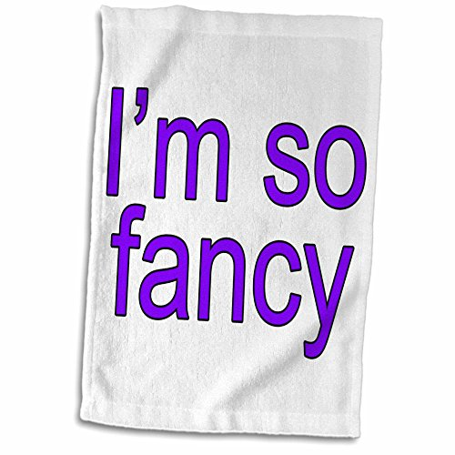 3dRose EvaDane - Funny Quotes - Im so fancy. Purple. - 15x22 Hand Towel - Azalea Exercise Iggy