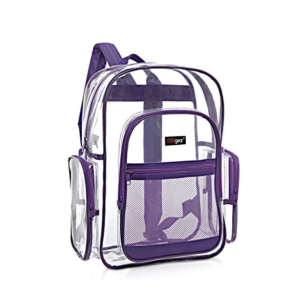 338c519e375b MGgear Clear PVC Multi-pocket School Outdoor Backpack – Sheer Backpacks