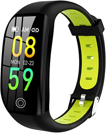 Nesee Fitness Tracker, Bluetooth 4.0 Heart Rate Monitor Bracelet, IP68 Waterproof, Touch Screen, Smart Wristband, Pedometer Sports Activity Tracker Smart Watch for Android and iOS Smartphone