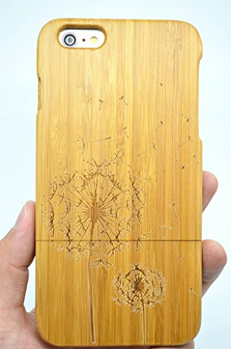 iPhone 6 Plus (5.5 inch) Wood Case - Bamboo Dandelion - Premium Quality Natural Wooden Case for your Smartphone and Tablet - by VolksRose - Iphone 6 Wood Case Dandelion