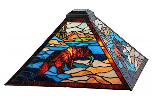 - Meyda Tiffany 138517 Grizzly Bear Lamp Shade, 17 sq. in.