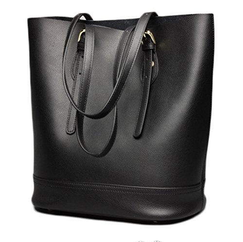 Leather Handbag Fashion Leather Casual Bag Black Handbag Bag Shoulder Women's qZqx4w1d