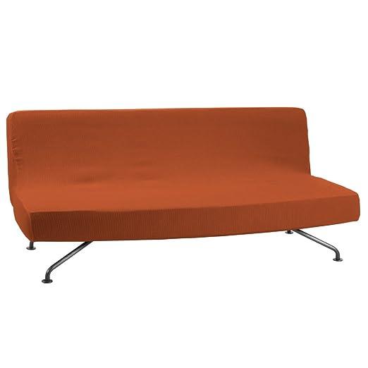 Funda de Sofá Clic-Clac Modelo Camden, Color Naranja, Medida 3 Plazas – 180-240cm