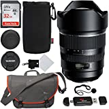 Tamron SP AFA012C700 15-30mm f/2.8 Di VC USD Wide-Angle Lens for Canon EF Cameras, Sandisk Ultra SDHC 32GB Memory Card, Lowepro Bag, Ritz Gear Reader, Polaroid Lens Cap Keeper and Accessory Bundle