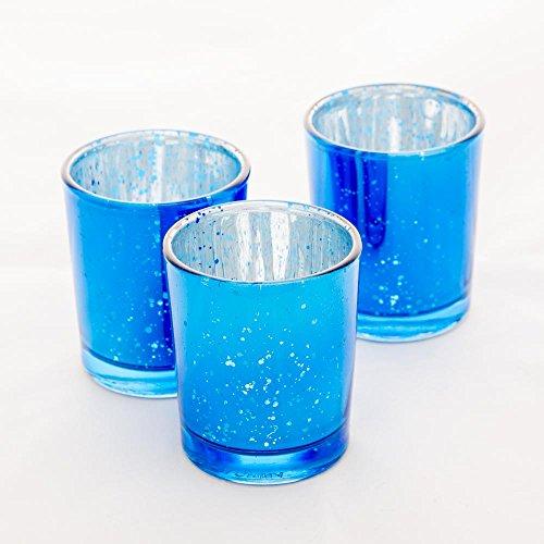 Richland Mercury Votive Candle Holders Blue Set of 12