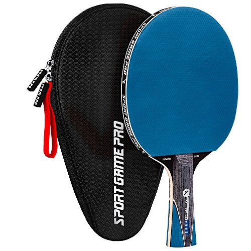 Ping Pong Paddle JT-700 with Killer Spin + Case for Free (Blue)