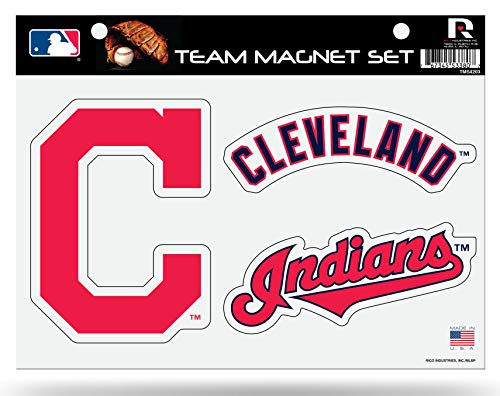 Rico Industries, Inc. Cleveland Indians Multi Die Cut Magnet Sheet Heavy Duty Auto Home Baseball