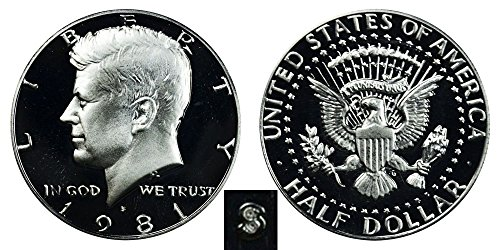 1981 S Gem Proof Kennedy Half Dollar US Coin Half Dollar Uncirculated US (Presidential Dollar Bu Roll)