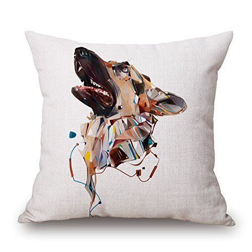[Artistdecor 16 X 16 Inches / 40 By 40 Cm Dog Cushion Covers,2 Sides Is Fit For Husband,christmas,deck] (Snuggles Dog Costume)