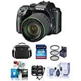 Pentax K-70 24MP Full HD DLR Camera with SMCP-DA 18-135mm f/3.5-5.6 ED AL DC WR Lens, Black - Bundle With 16GB SDHC Card, Camera Bag, 62mm Filter Kit, Cleaning Kit, Memory Wallet, Software Package