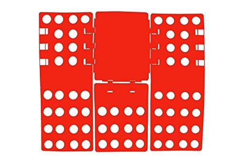 THREADNANNY Premium 4th Generation Adult Shirt Folder Board Organizer Adjustable Clothes Shirt Folder, Red