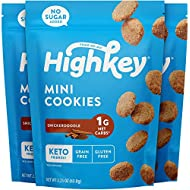 HighKey Keto Snacks Low Carb Snickerdoodle Cookie - Paleo, Diabetic Diet Friendly - Gluten Free, Low Sugar Dessert Treats & Sweets - Ketogenic Products Healthy Protein Cookies (Packaging May Vary) 3-pack