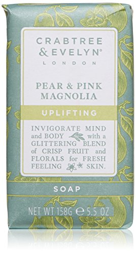 Crabtree & Evelyn Pear & Pink Magnolia Triple Milled Soap, 5.5 oz