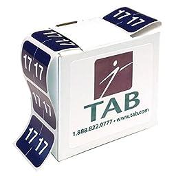 TAB 2 Digit Year Label, 2017, 1\