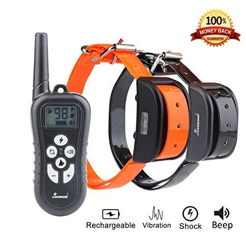 Cuterpet Rechargeable Dog Training Collar, Remote Controlled and Waterproof with 4 Adjustable Modes Collar for 2