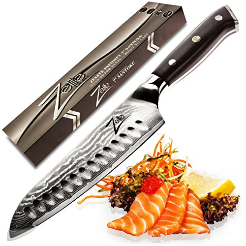zelite infinity santoku knife 7 inch best quality japanese import it all. Black Bedroom Furniture Sets. Home Design Ideas